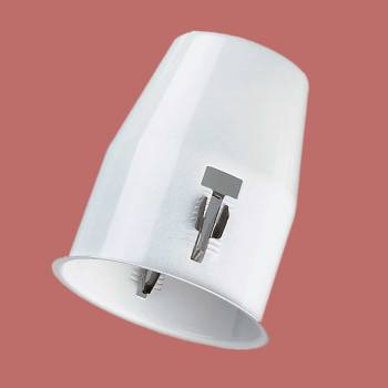 <PRE>Ceiling Lights White Metal Flush Cannister for Light </PRE>zoom2