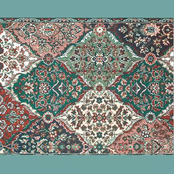 spec-<PRE>Rectangular Area Rug 6' x 4' Green Wool </PRE>
