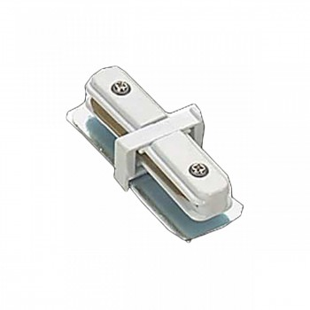 <PRE>Track Lighting White I Connector for 2 Conductor Track </PRE>zoom1